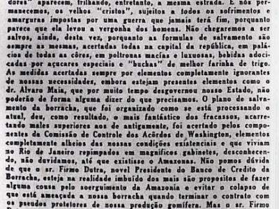 A salvação da borracha e da Amazônia