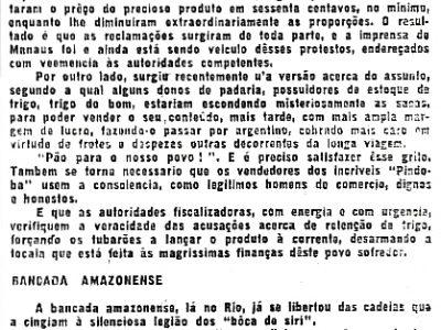A falta de trigo em Manaus