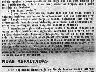 Asfaltamento das ruas de Manaus