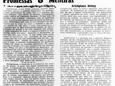 Ministro Roberto Campos pertenceu ao governo de João Goulart