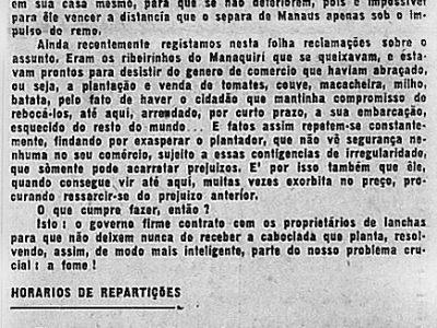 Em Manaus há escassez de alimentos
