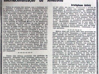 Amazônia e a Cobiça Internacional de Arthur Reis