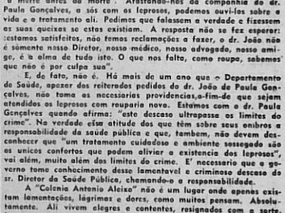 Visita à Colônia Antônio Aleixo