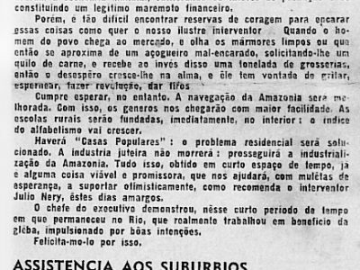 Interventor do Amazonas Júlio Nery