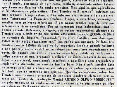 Resposta ao sr. Francisco Orofino