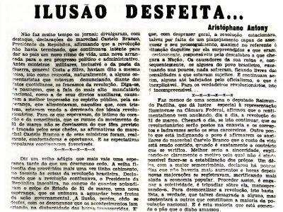 Declarações do Marechal Castelo Branco sobre a Revolução