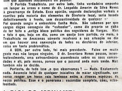 Bastidores das eleições no Amazonas