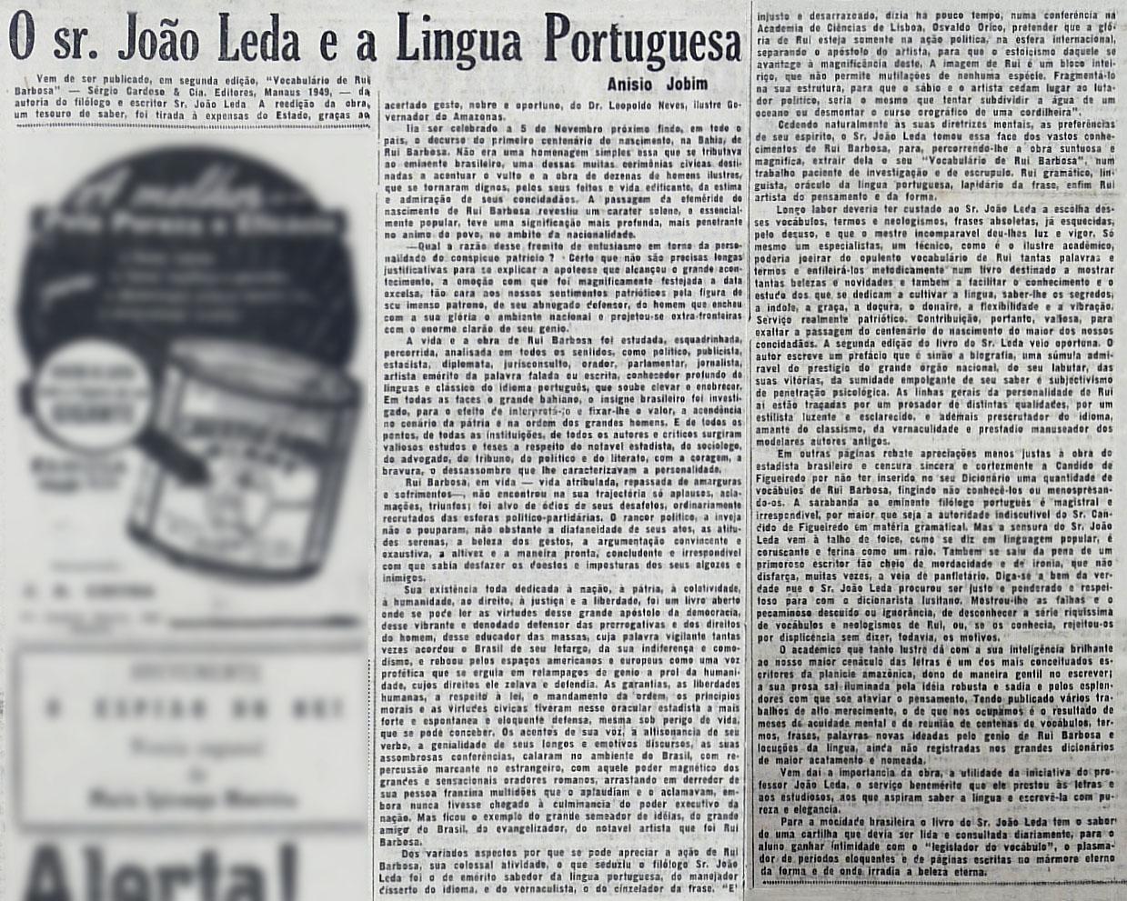 Reedição da obra de João Leda