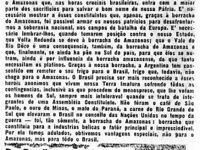 Do Amazonas para o Brasil