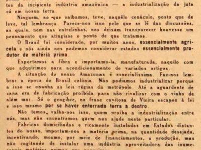 O problema da Juta no Amazonas