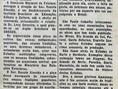 Instalação da Subcomissão Nacional do Folclore