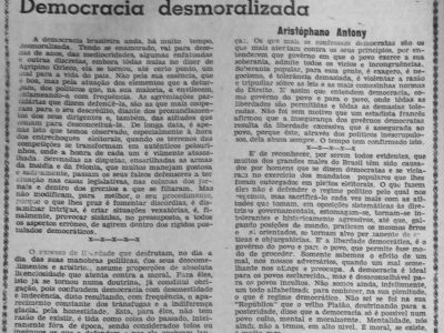 A Desmoralização da Democracia Brasileira