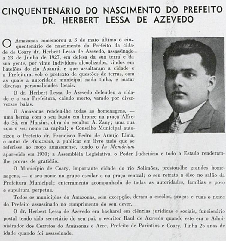 O cinquentenário de nascimento de Herbert Lessa de Azevedo