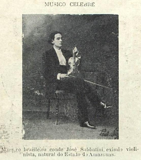 O violinista Conde José de Sabbatini