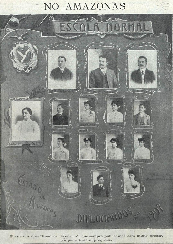 Diplomandos da Escola Normal em 1907