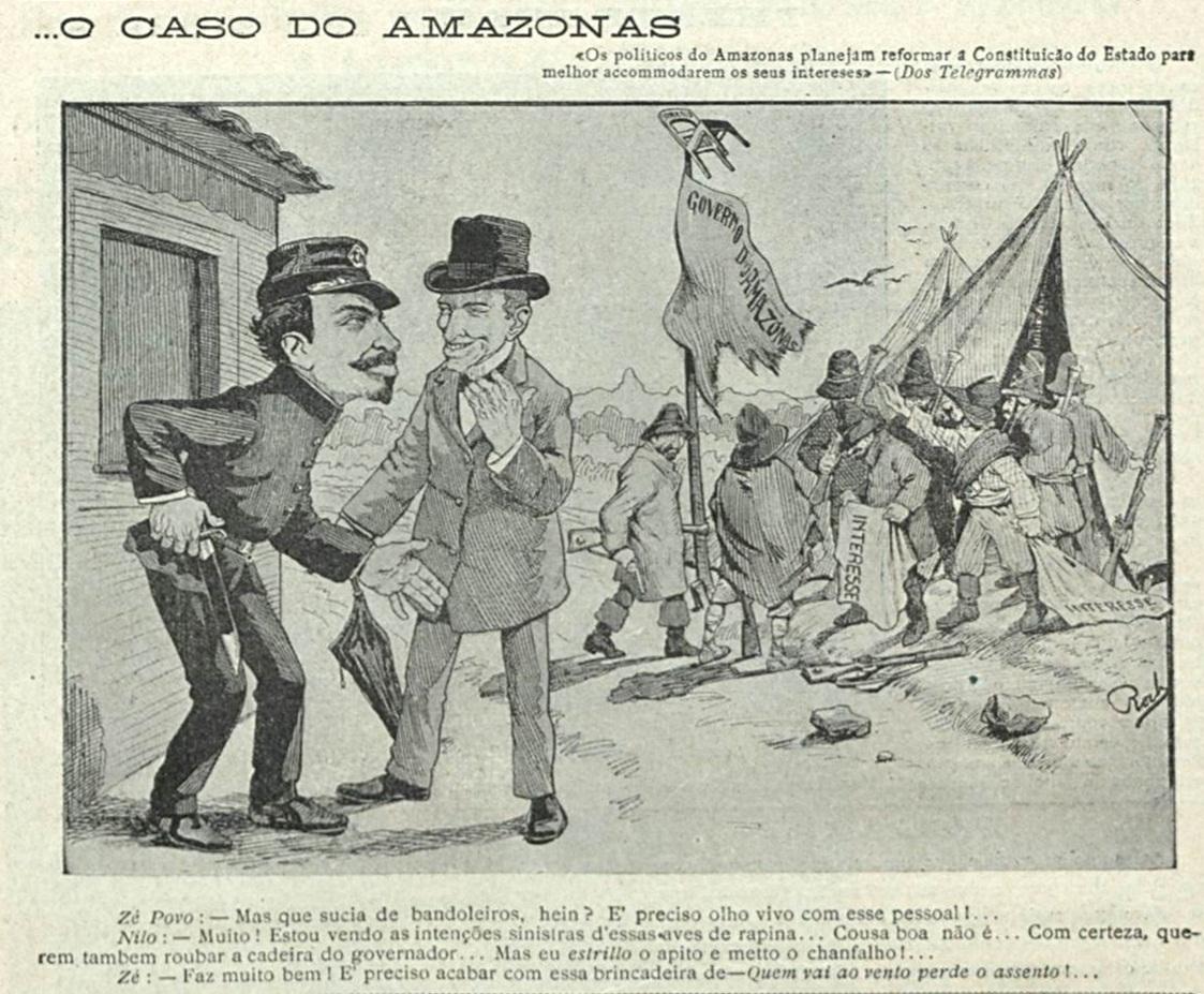 Charge sobre o caso do Amazonas