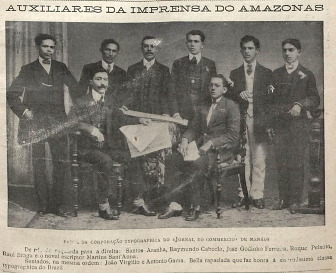 Corporação tipográfica do Jornal do Commercio em Manaus