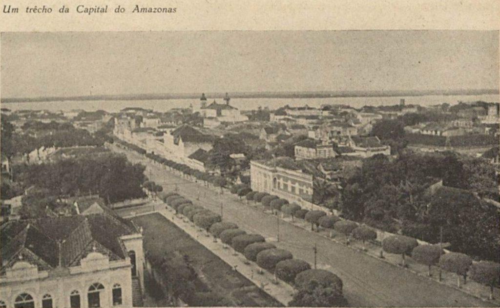 Imagem da avenida Eduardo Ribeiro na década de 1940