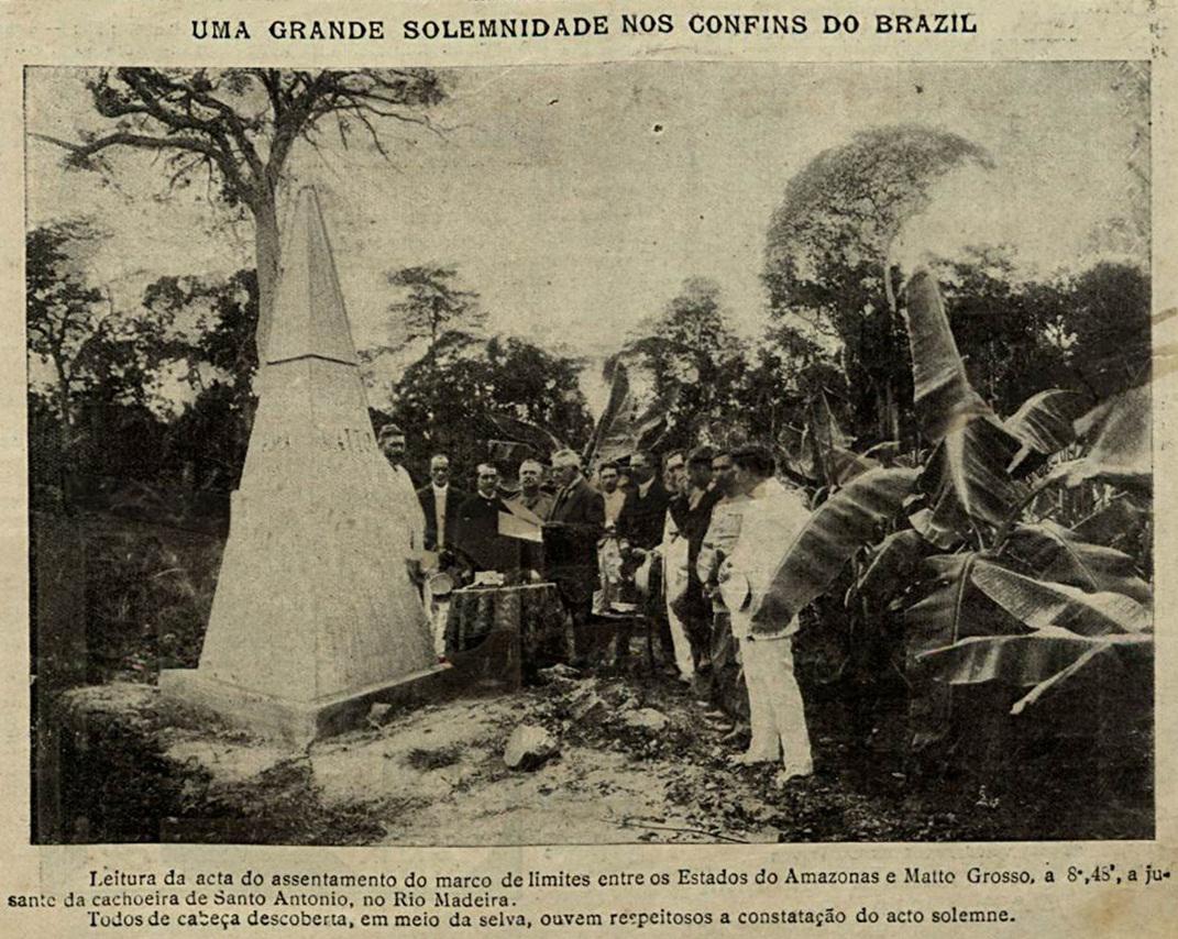 Marco de limites entre os Estados do Amazonas e Mato Grosso