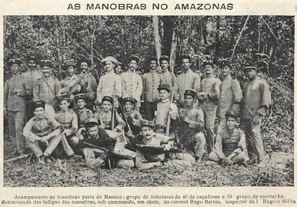 Militares em acampamento perto de Manaus
