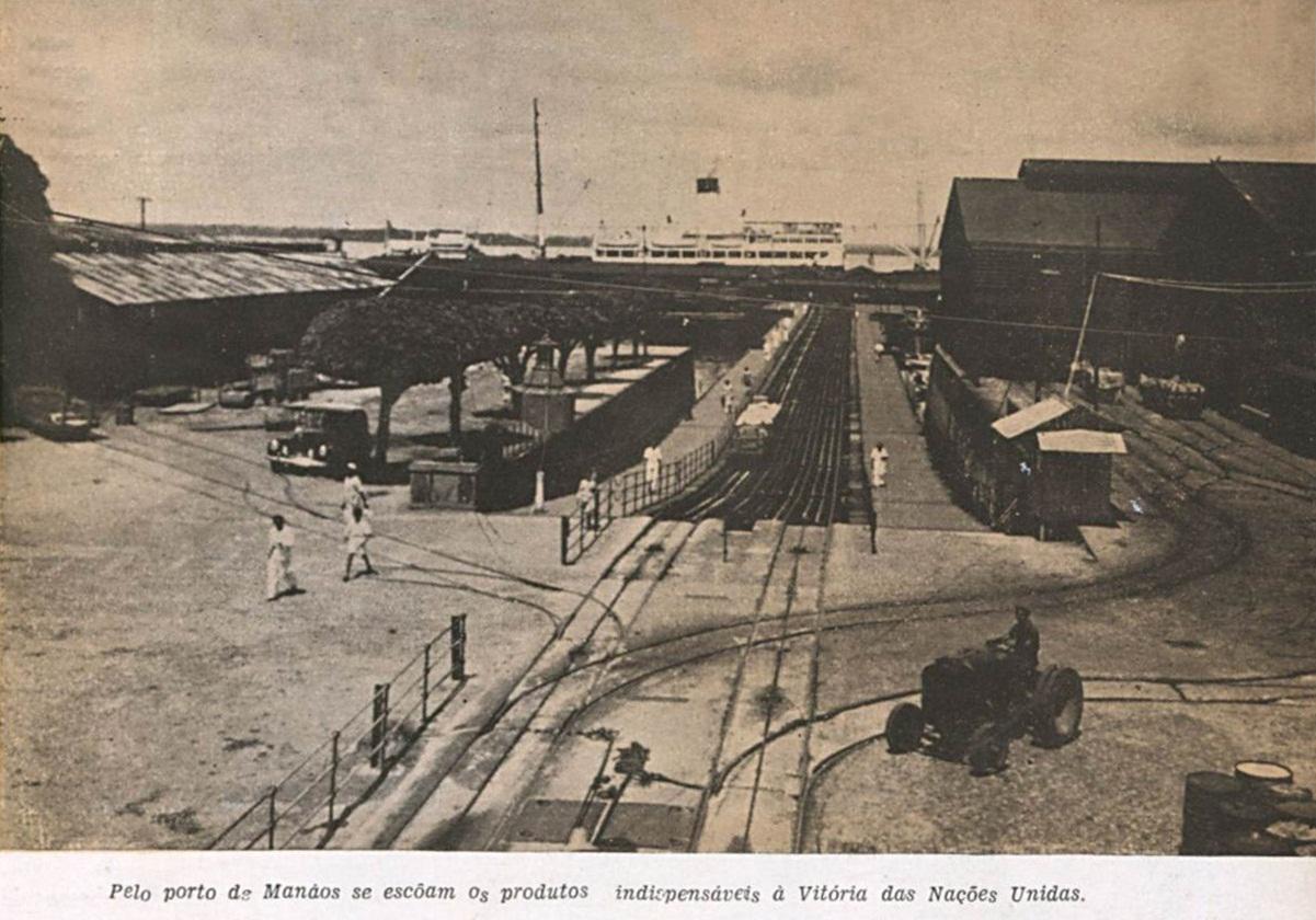 Vista da entrada do Porto de Manaus