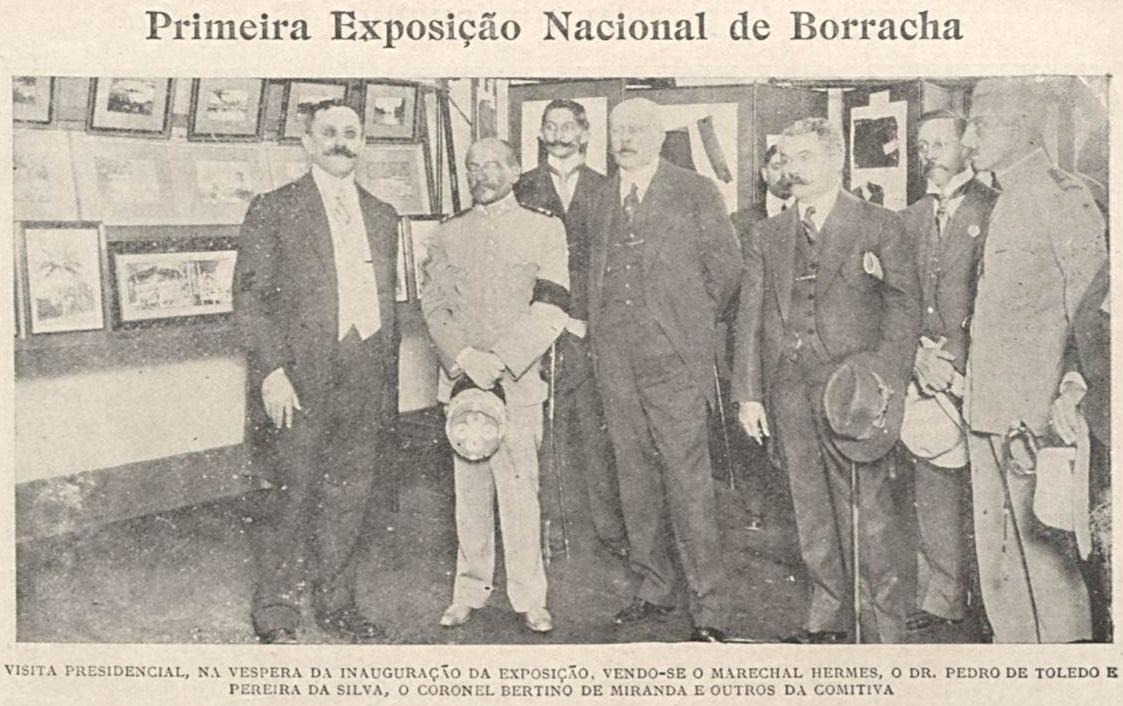 Primeira Exposição Nacional de Borracha em 1913