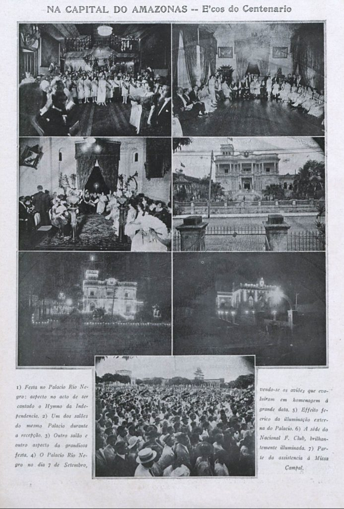 Centenário da Independência do Brasil no Palácio Rio Negro