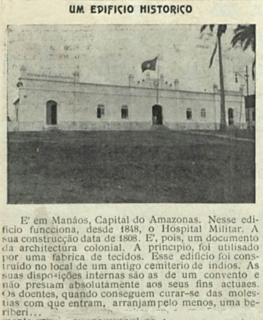 Edifício do Hospital Militar construído em 1808