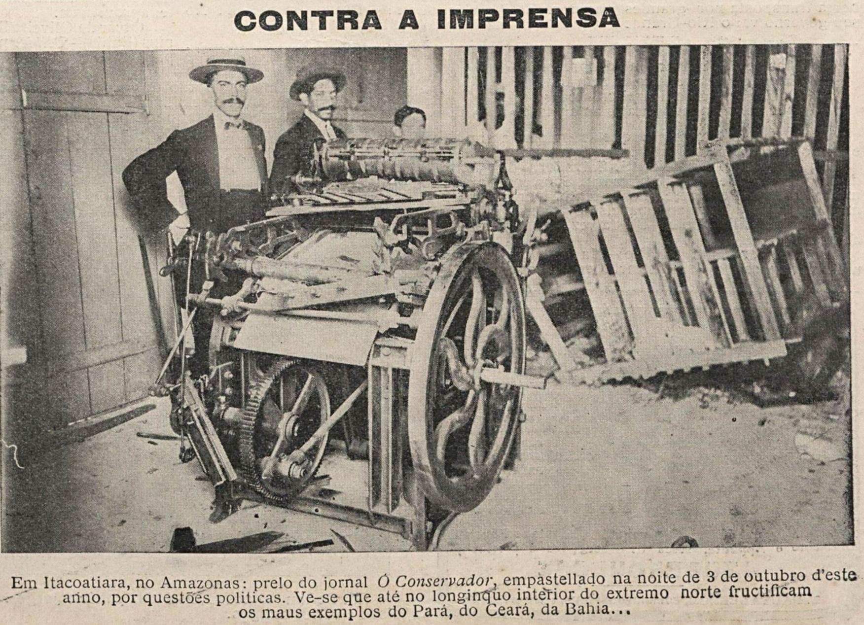 Empastelamento do Jornal O Conservador em Itacoatiara