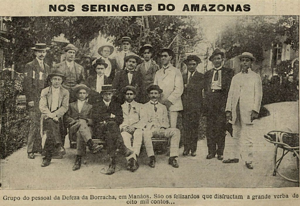 Grupo em defesa da borracha em Manaus