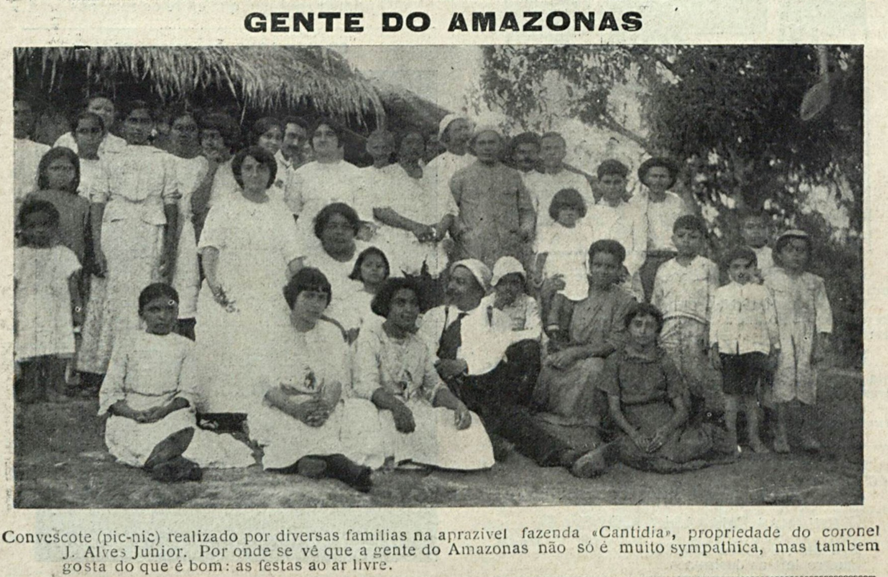Família reunida na fazenda Cantídia