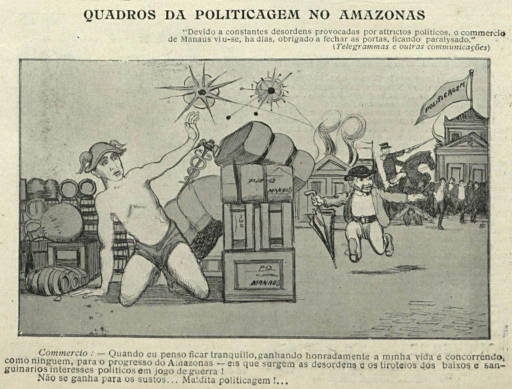 Charge sobre a politicagem em Manaus