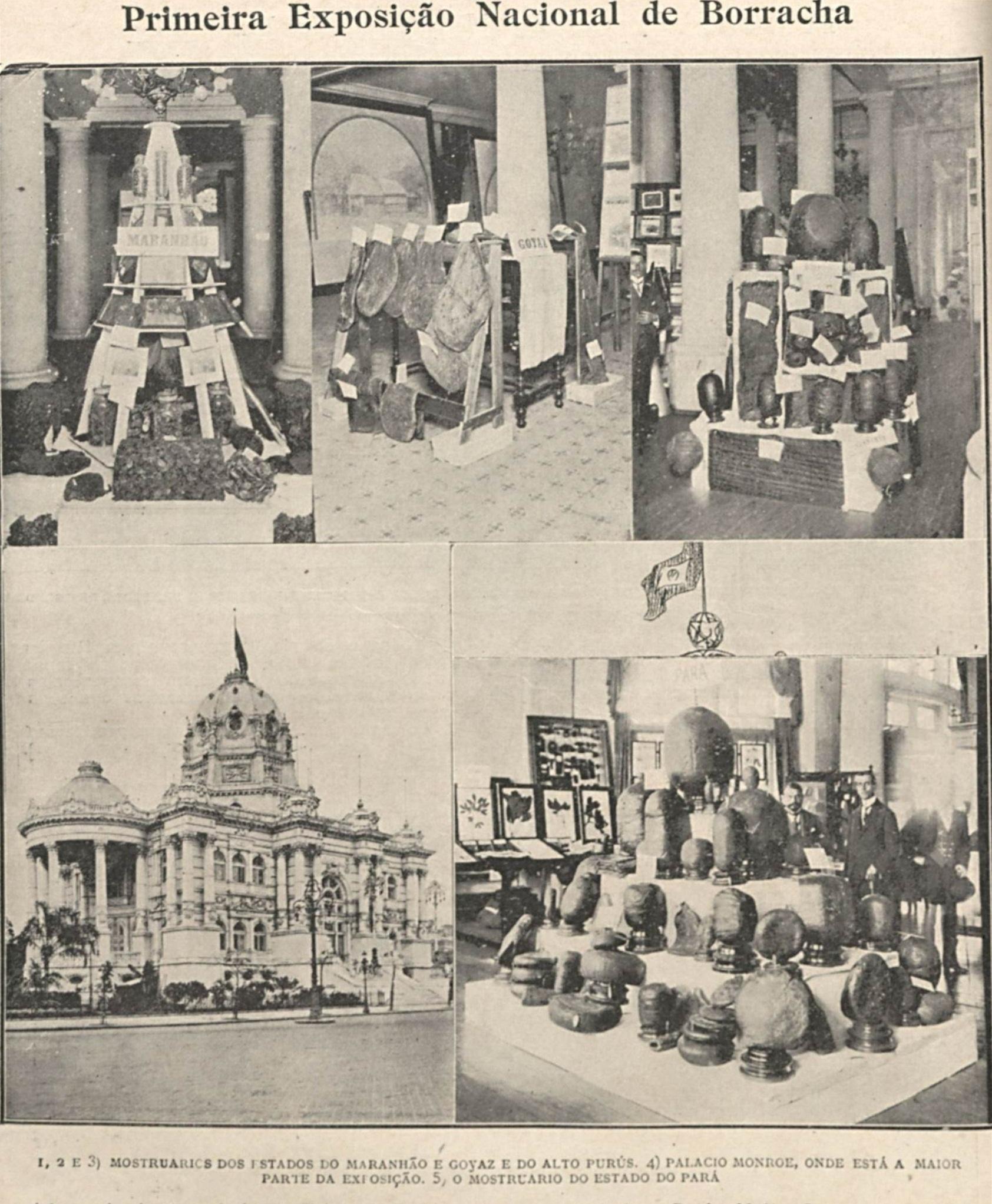 Materiais em Exposição no Palácio Monroe
