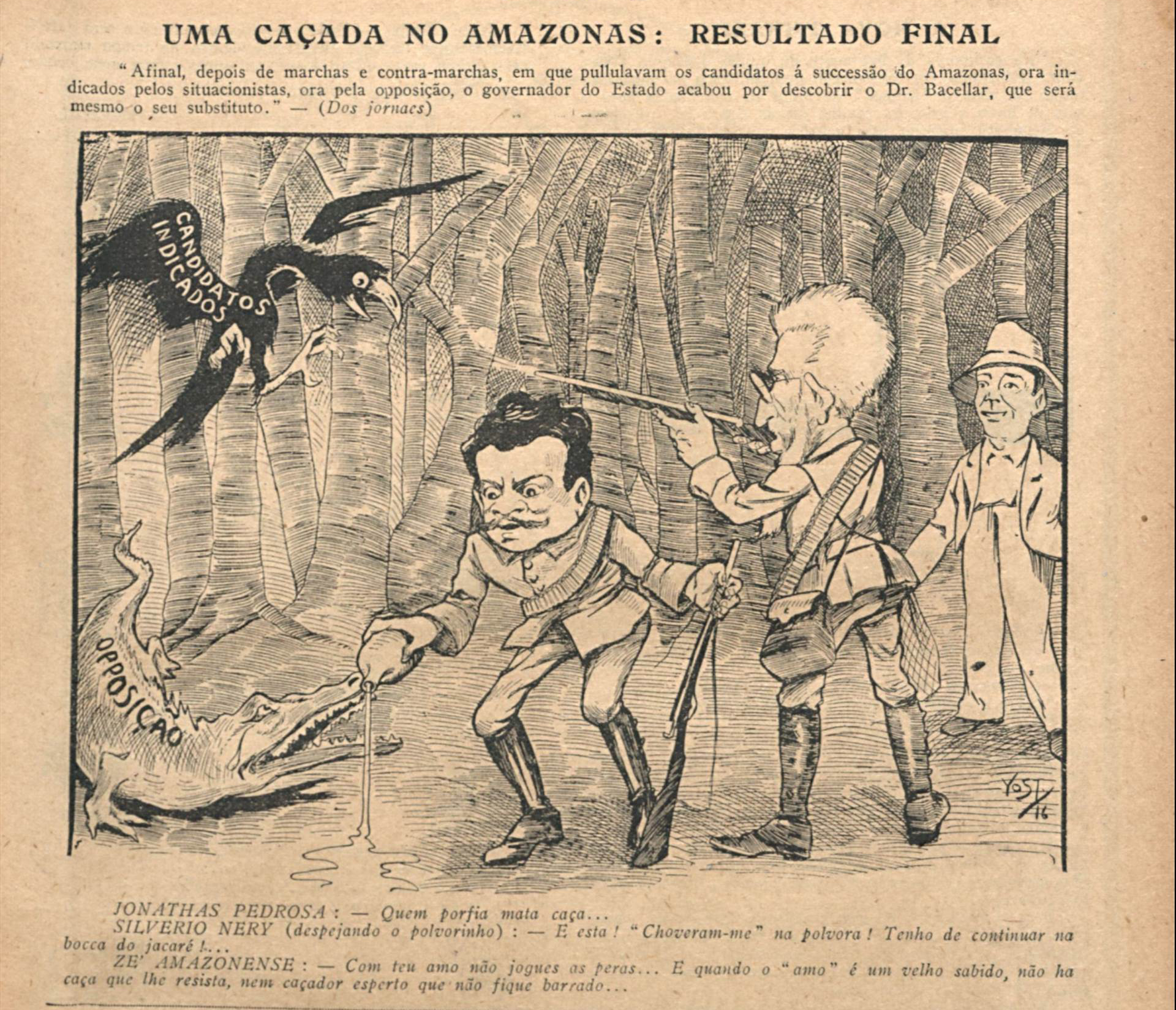 Charge de Alcântara Bacellar e as eleições no Amazonas - IDD