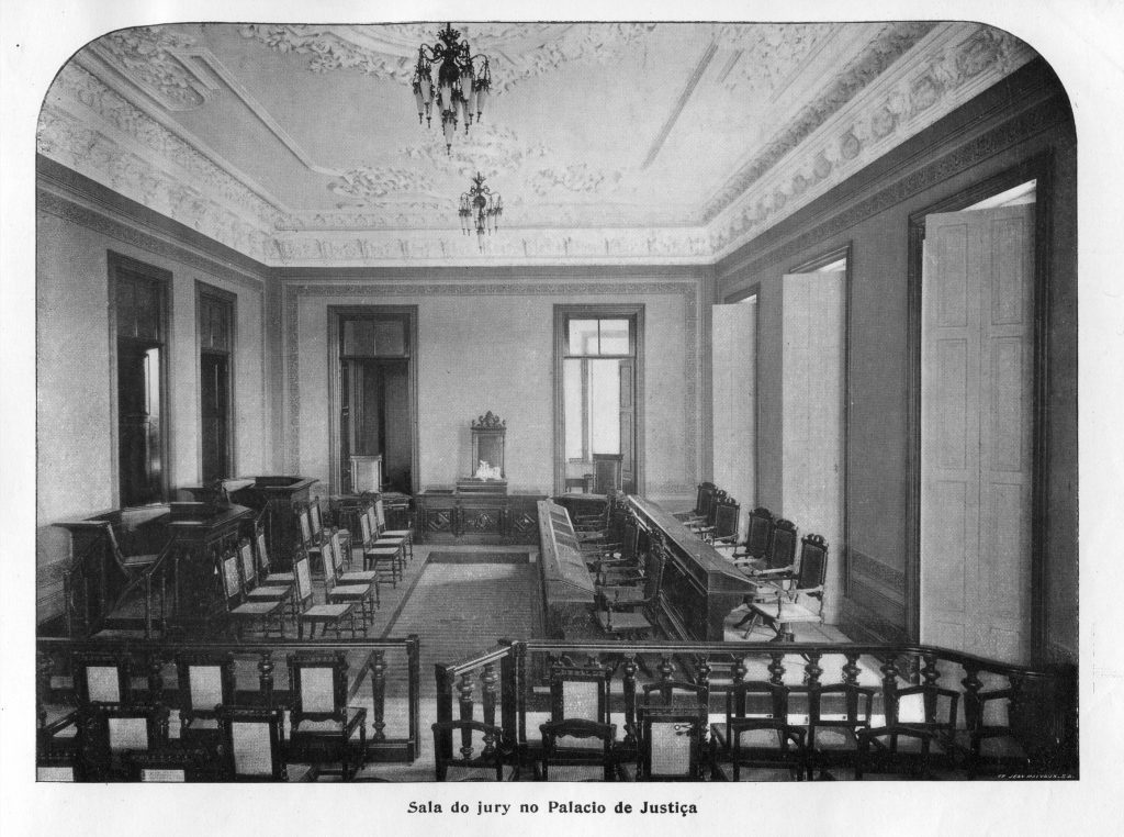 Sala do Júri no Palácio da Justiça