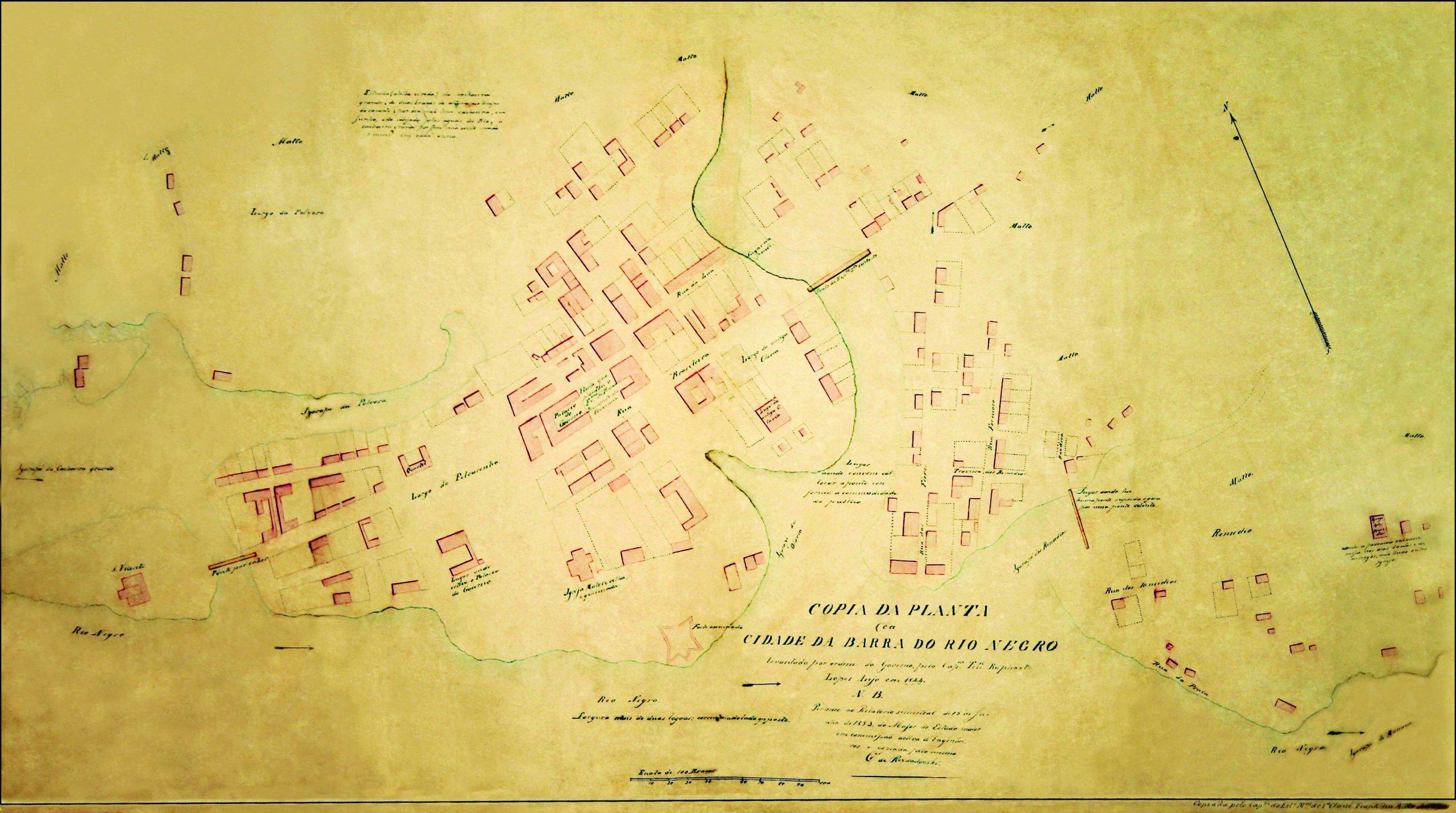 Planta da Cidade da Barra do Rio Negro em 1844