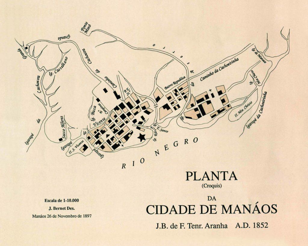 Planta da Cidade de Manáos de 1852