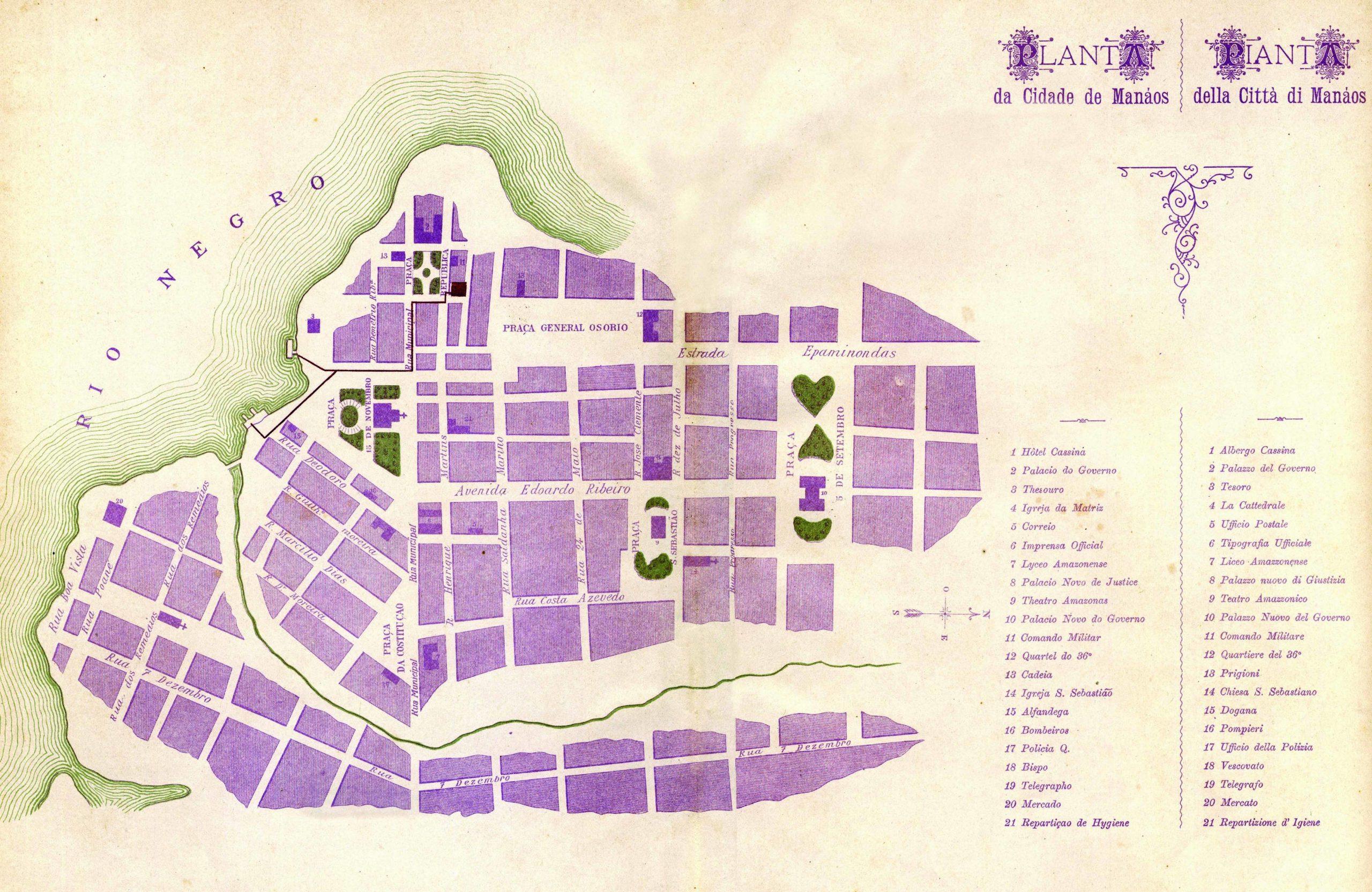 Planta da Cidade de Manáos 1899