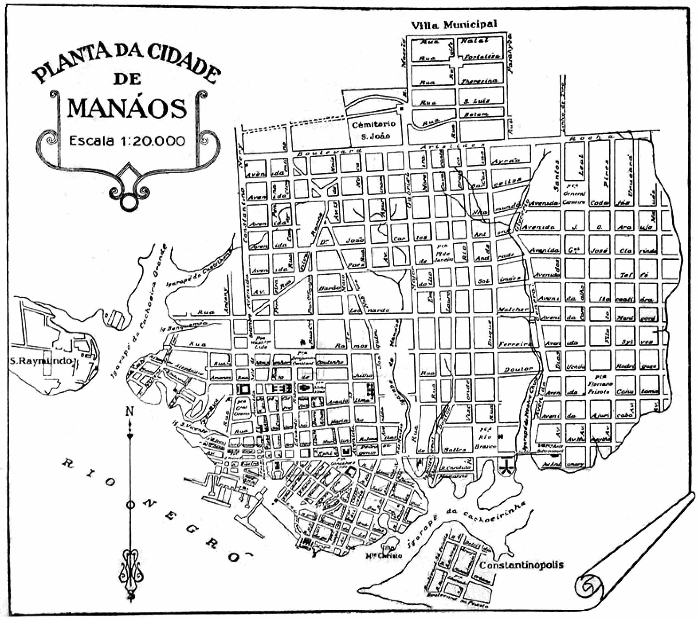 Planta da Cidade de Manáos de 1938