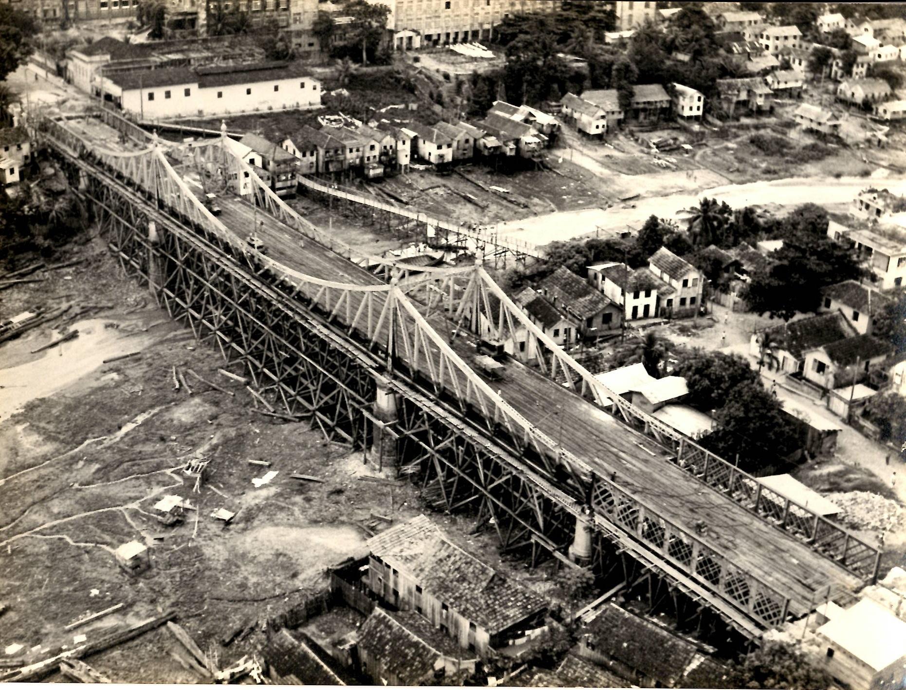 Imagem da Ponte Benjamin Constant em Reforma