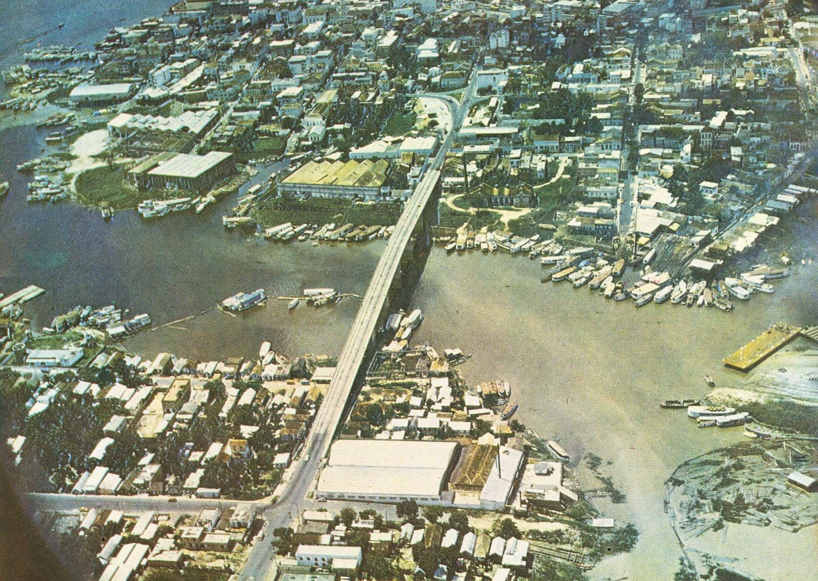 Imagem aérea da Ponte do Educandos - Instituto Durango Duarte