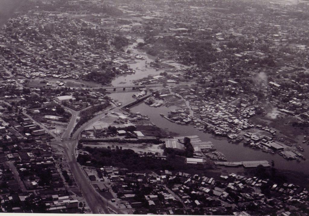 Vista aérea das pontes Presidente Dutra e da Conciliação - IDD