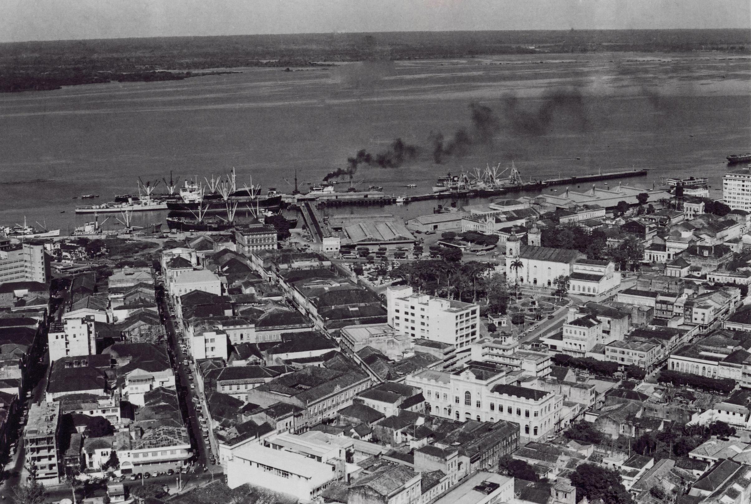 Vista do Porto da cidade de Manaus - Instituto Durango Duarte