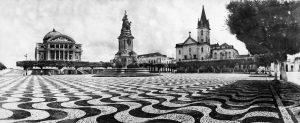 Durango Duarte - Praça São Sebastião com mosaico português