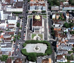 Durango Duarte - Praça São Sebastião na década de 1990
