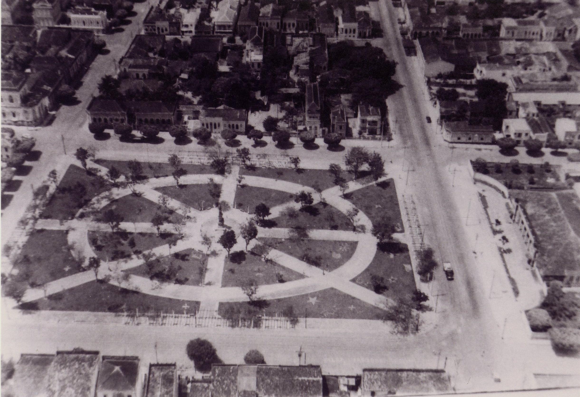 Vista aérea da Praça da Saudade - Instituto Durango Duarte