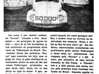 Fusca, da Volkswagen do Brasil