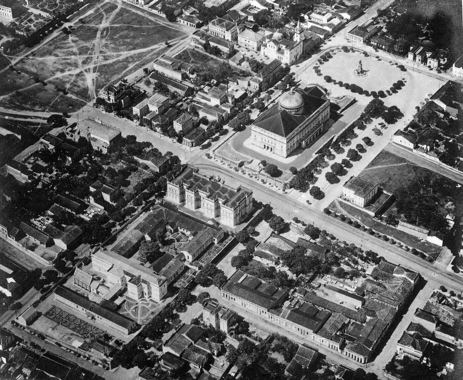 Vista aérea dos pontos de referência de Manaus - Instituto Durango Duarte