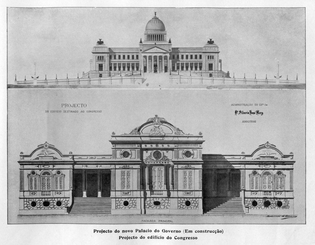 Projetos do Palácio do Governo e do Edifício do Congresso