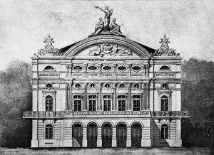 Durango Duarte - Projeto da fachada do Teatro Amazonas